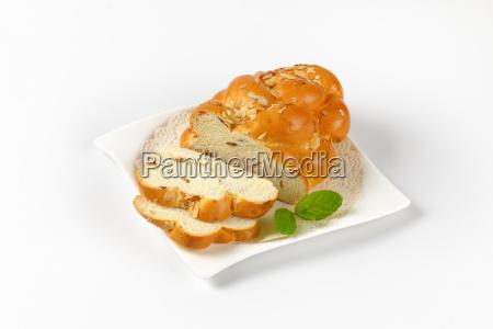 christmas, sweet, braided, bread - 19128099