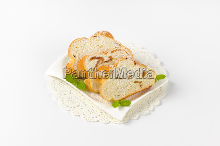 slices, of, sweet, braided, bread - 19128273