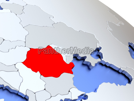 romania on world map