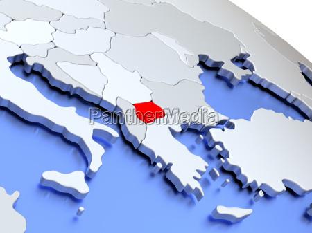macedonia on world map