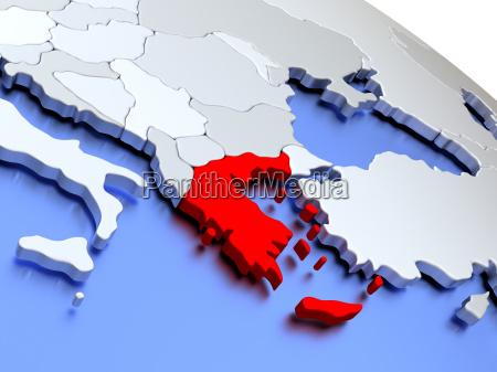 greece on world map