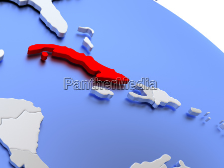 cuba on world map