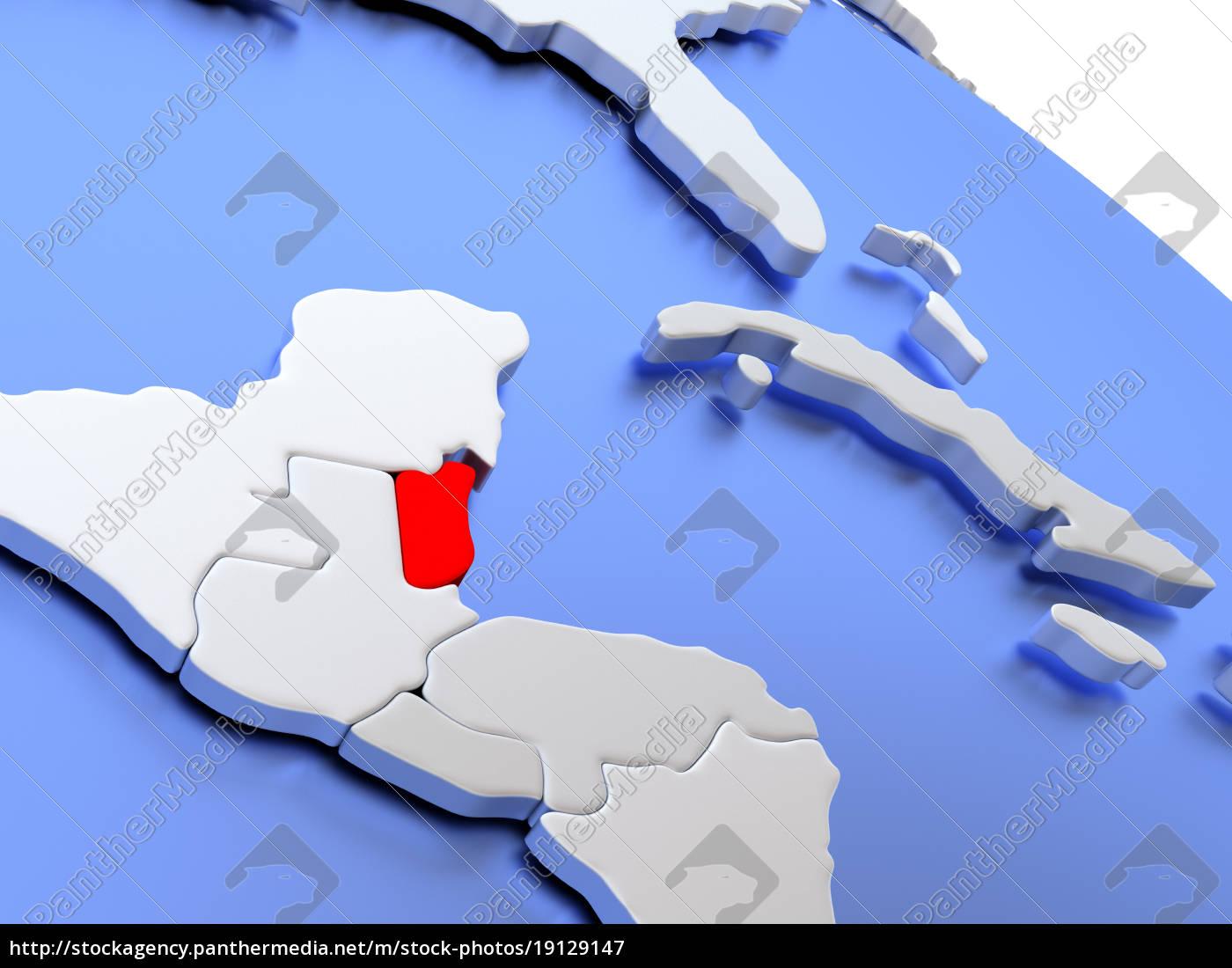 belize, on, world, map - 19129147