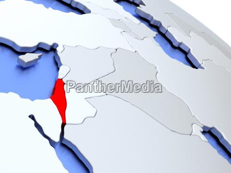 israel, on, world, map - 19129311