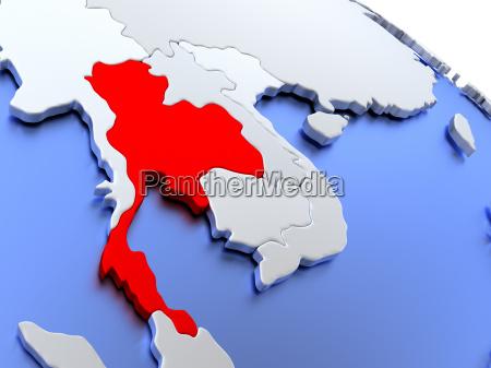 thailand, on, world, map - 19129213
