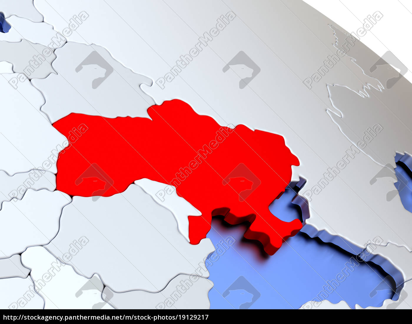 ukraine, on, world, map - 19129217