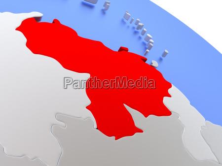 venezuela, on, world, map - 19129181