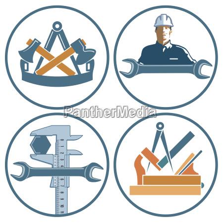 craftsman character locksmith joiner carpenter