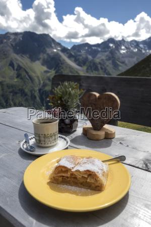 apple strudel in the austrian alps