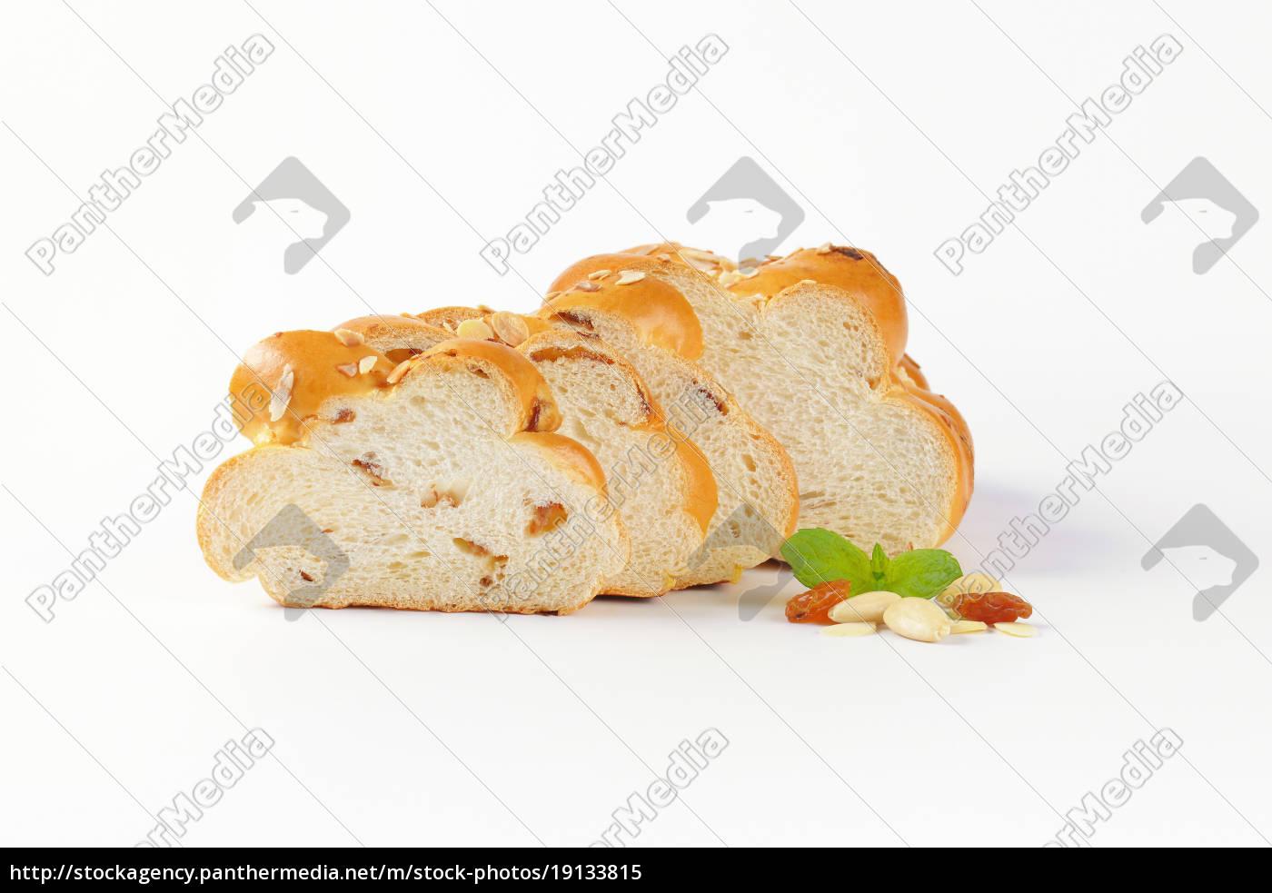 sliced, sweet, braided, bread - 19133815