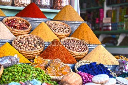 variety of spices on the arab