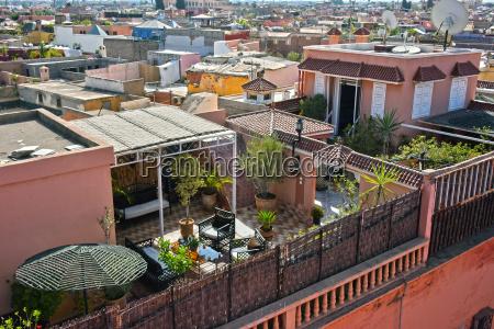 view of marrakesh medina morocco