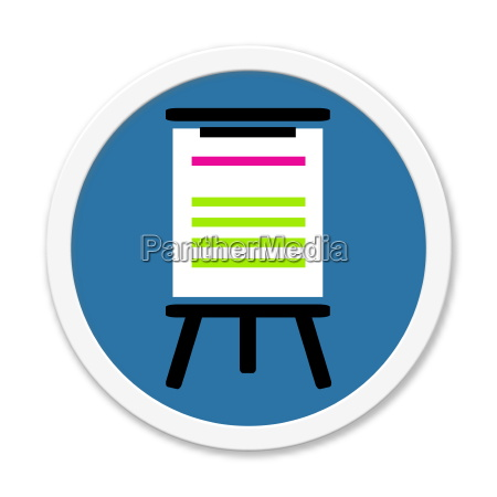 blue round button lecture