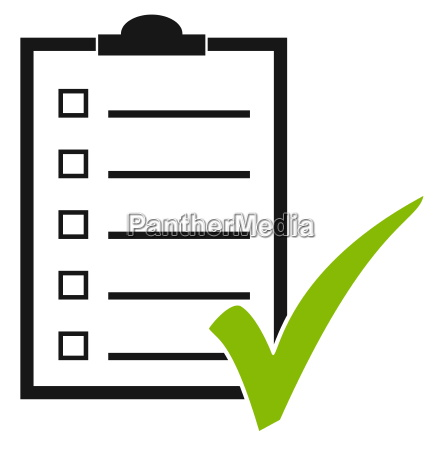 clipboard with hook checklist