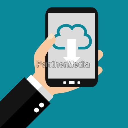 cloud download the smartphone