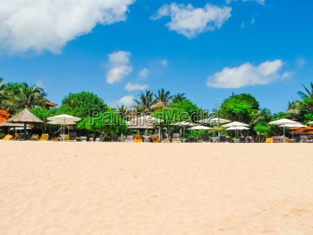 beautiful white sand beach on the