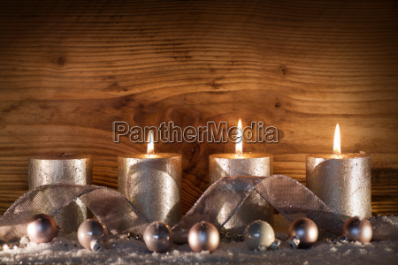 silver candles for the 3rd advent