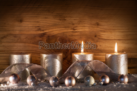 silver candles for the 2nd advent