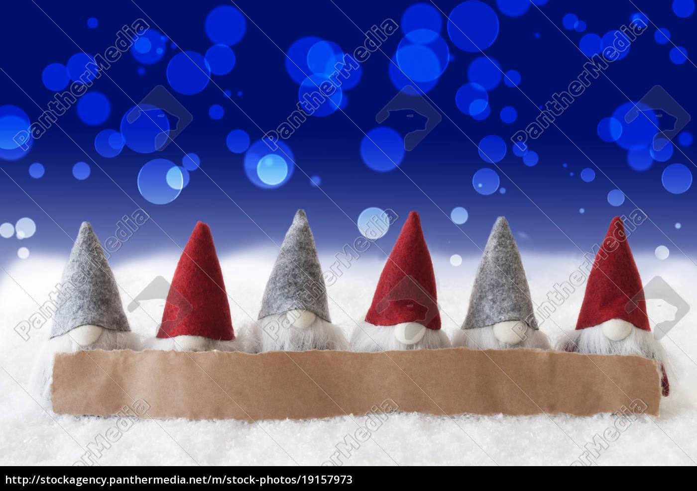 gnomes, , blue, background, , bokeh, , copy, space - 19157973