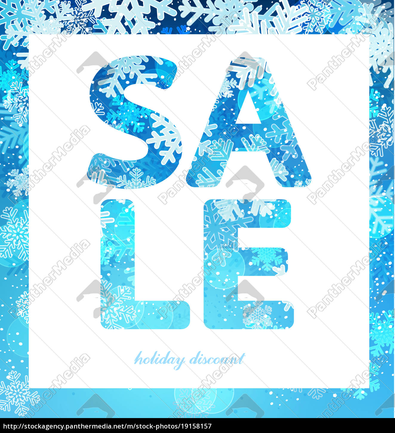 sale, poster, , discount, with, snowflakes. - 19158157