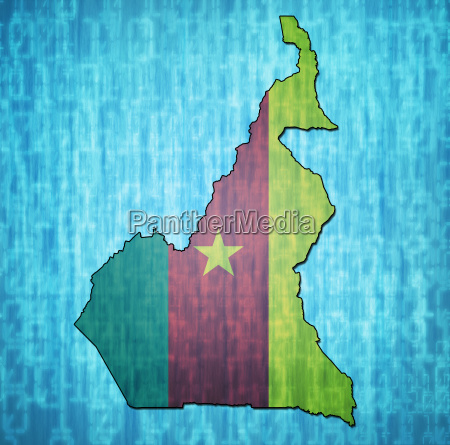 cameroon territory with flag