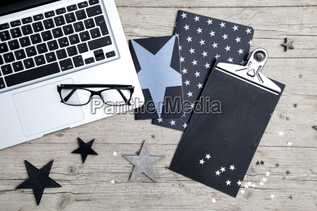 business, office, workplace, with, christmas, decoration - 19160895