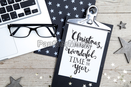 business, office, workplace, with, christmas, decoration - 19160959