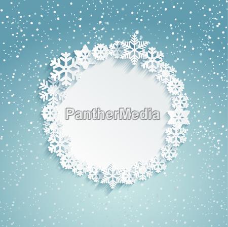 circular christmas frame
