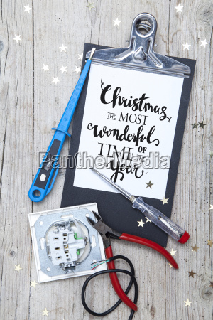 creative, christmas, card, for, at, electrican - 19161061