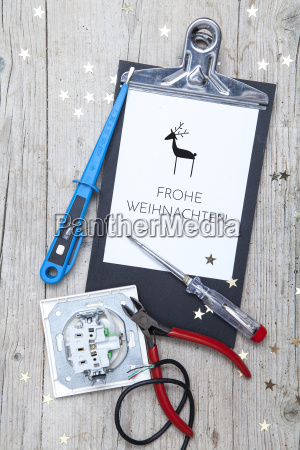 creative, christmas, card, for, at, electrican - 19161069