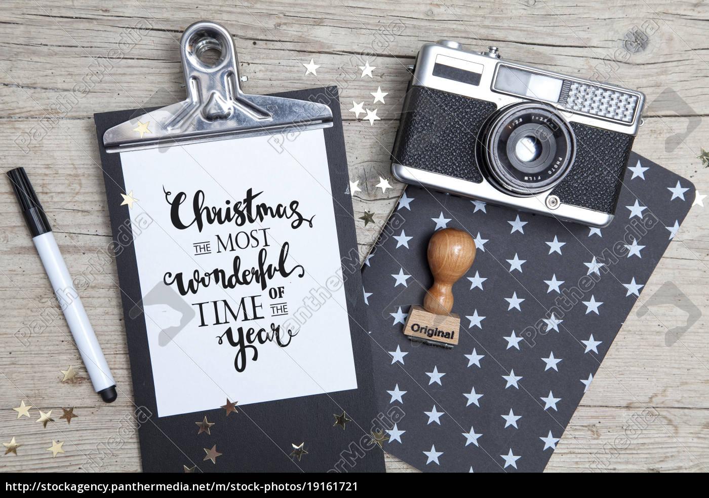 creative, christmas, card, with, an, old - 19161721