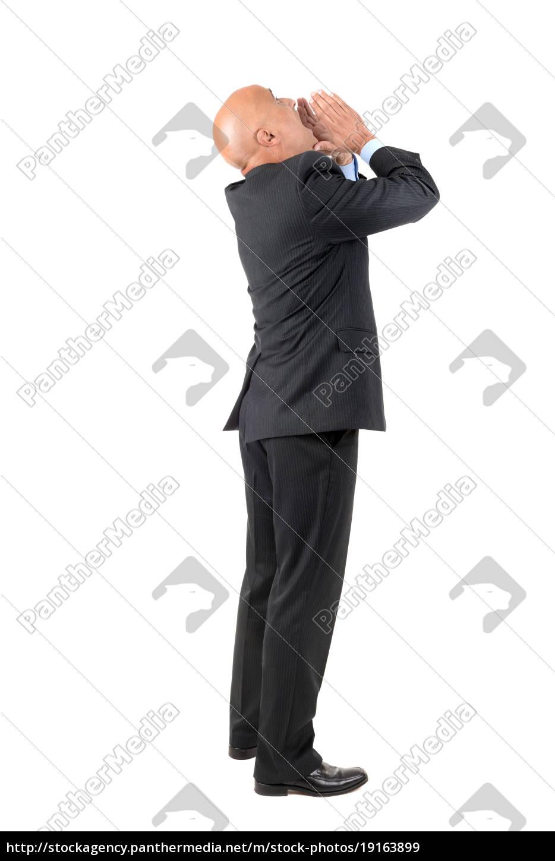 businessman, shouting - 19163899