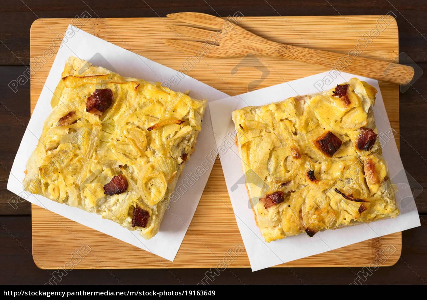 german, zwiebelkuchen, onion, cake - 19163649