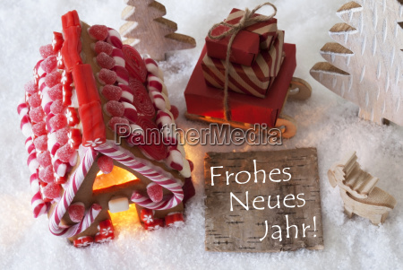 gingerbread, house, , sled, , snow, , frohes, neues - 19164471