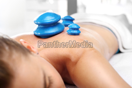 massage room back massage with a