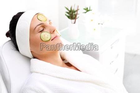 cucumber mask skin care treatment in