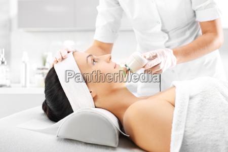 ultrasound infrared light facial treatment