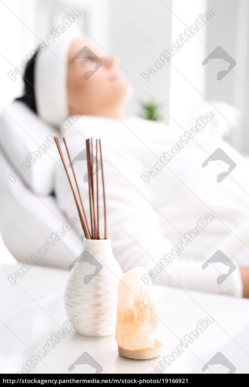 a, woman, relaxing, in, a, beauty - 19166921