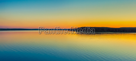 sunset over the river panorama