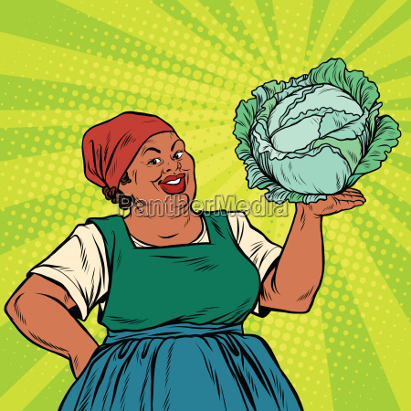 retro old african american woman with