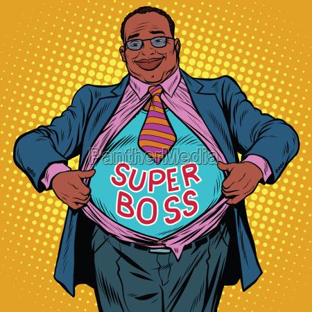 african american businessman super boss
