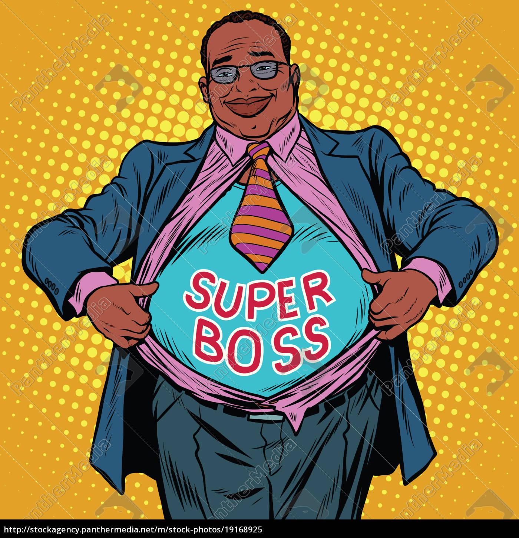 african, american, businessman, super, boss - 19168925