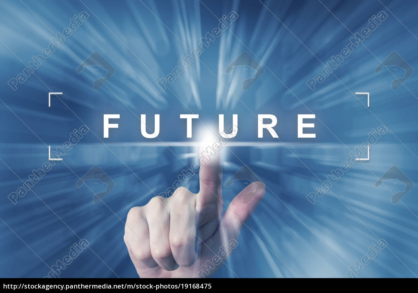 hand, clicking, on, future, button - 19168475