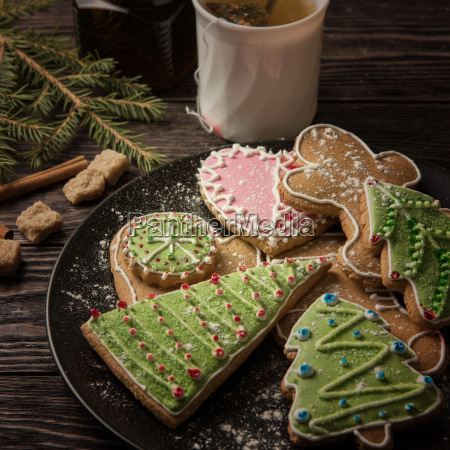 new, year, homemade, gingerbread - 19170321