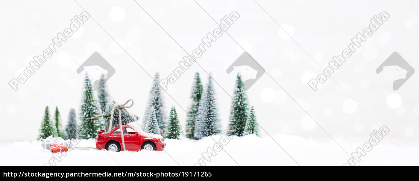 snowy, winter, forest, with, miniature, red - 19171265