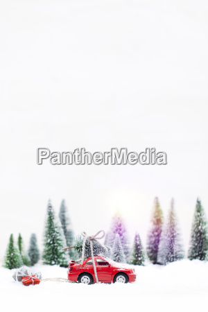 snowy, winter, forest, with, miniature, red - 19171271