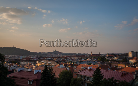 view of prague city from vysehrad