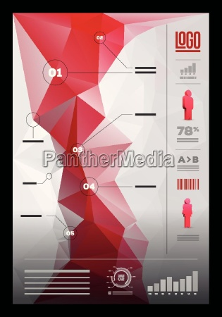 vector polygonal infographic design template
