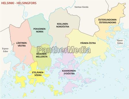 helsinki district map
