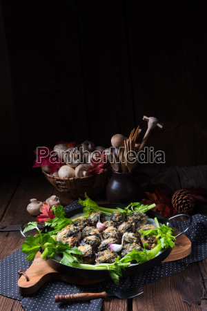 baked, stuffed, mushrooms - 19176423